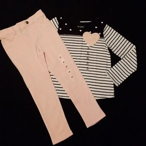 The Children's Place 2-piece Heart Outfit NWT